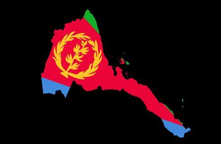 Staat Eritrea Standard-Bild - 6857060