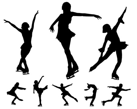 Eiskunstlauf-Vektoren Vektorgrafik