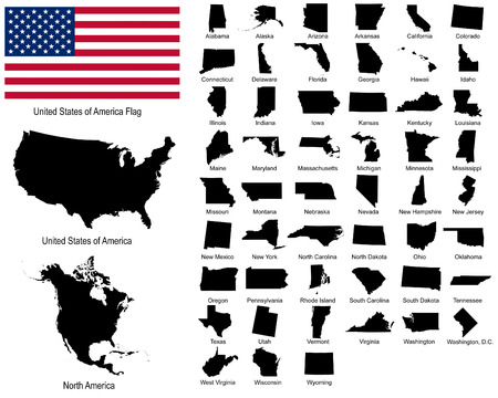 Vectors of USA states Vector