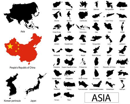 syria: Asiatischen L�ndern Vektoren Illustration