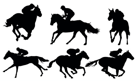 Horse racing Stock Vector - 18724901