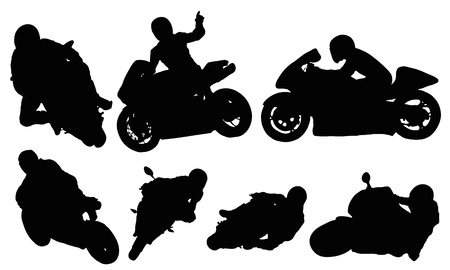 Motorcycle Racing Silhouette Motorcycle racing vector