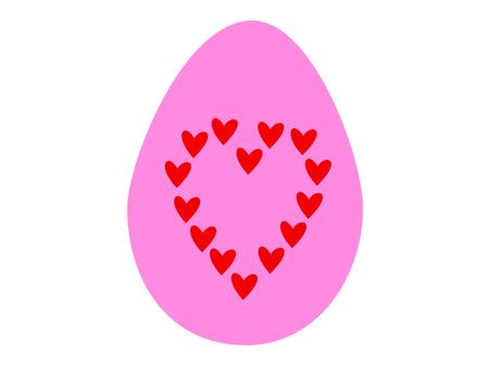 Pink easter egg image illustration