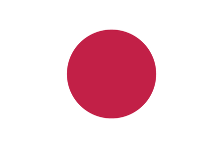Flag of Japan. Magenta and white colors. Proportion 3: 2.