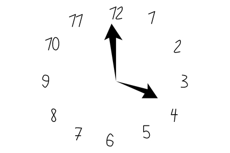 Vector illustration of a clock.