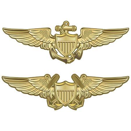 Naval Aviator Wings Vektorgrafik