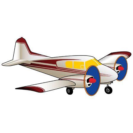 Civilian Twin Engine Airplane