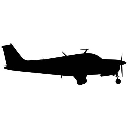 Civilian Airplane Silhouette