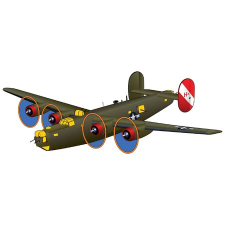World War II American Bomber Vettoriali