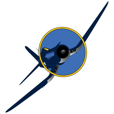 World War II U.S. Navy Fighter Airplane Vecteurs