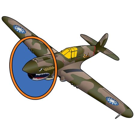 World War II American Fighter Airplane