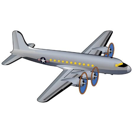 World War II American Transport Airplane