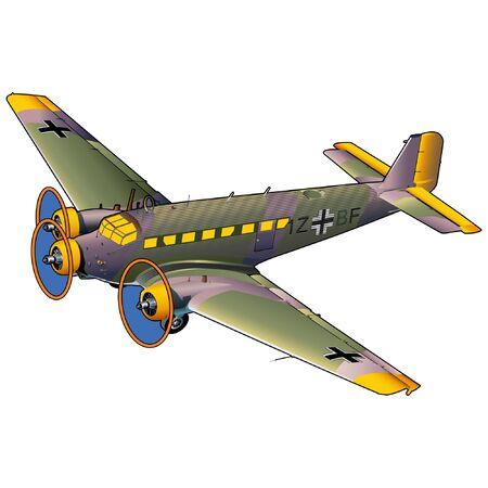 World War II Military Transport Airplane