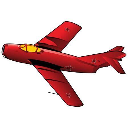 Korean War Fighter Jet Vectores
