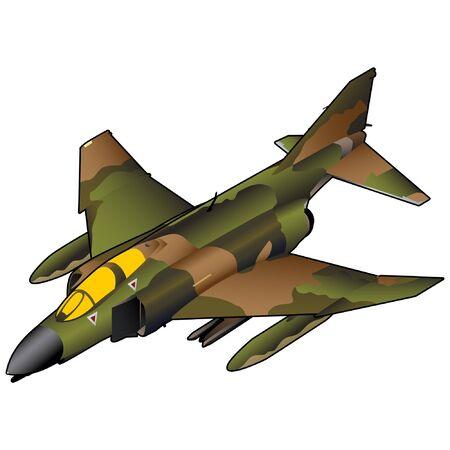 Vietnam Era  American Fighter Jet Illustration