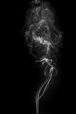 Smoke from incense.Simulated to smoke from hot food. Stock Photo