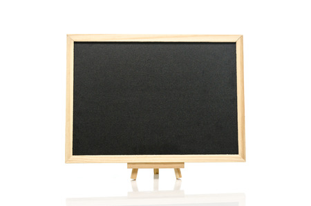 Black board and tripod  on white  background