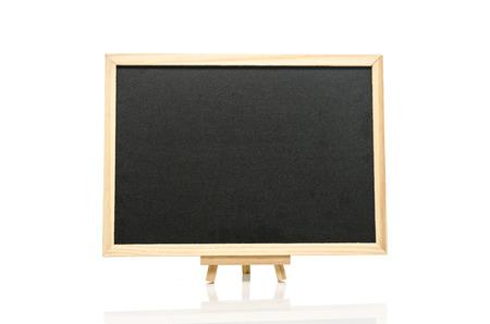 black board: Black board and tripod  on white  background