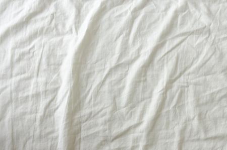 Witte Gerimpelde Stof Textuur voor achtergrond
