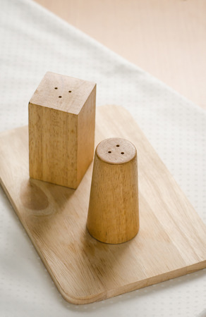 pepperbox: Close up of pepper box on wooden table