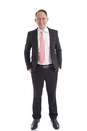 分離した白い背景のアジア ビジネスの男性の肖像画 写真素材