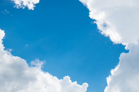 white clouds: clouds in the blue sky background