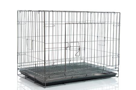 白地分離ワイヤー犬クレートや動物ケージ