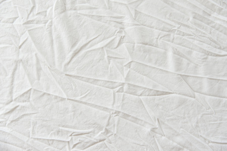 White Wrinkled Fabric Texture for background
