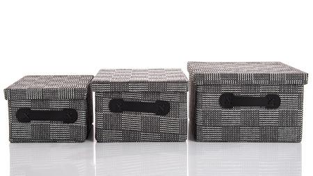 boxs: Grey Textile boxs on white background,isoated