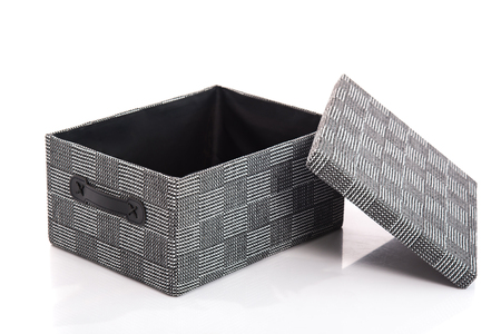 isoated: Grey Textile boxs on white background,isoated