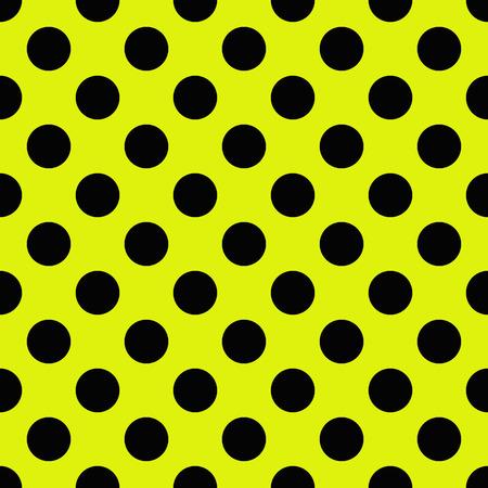 tiny: Tiny Black polka dots on yellow background