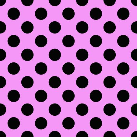 Tiny Black polka dots on pink background