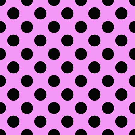 Tiny Black polka dots on pink background
