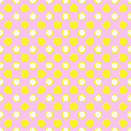 Yellow and white polka dots on brown background