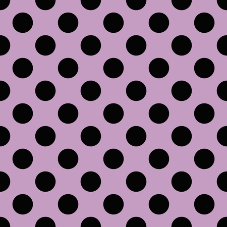 pink and black: Black polka dots on pink background