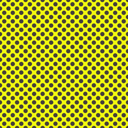 Gray polka dots on yellow background