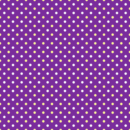 wallpaper dot: White and yellow polka dots on violet background