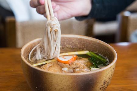 ramen noodle on wooden table