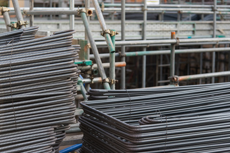 reinforcing bar: Metal Mesh building background in japan