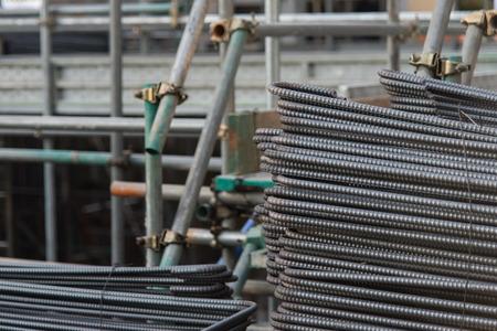 metal mesh: Metal Mesh building background in japan