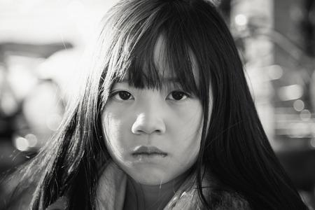 face close up: Beautiful asian girl face close up