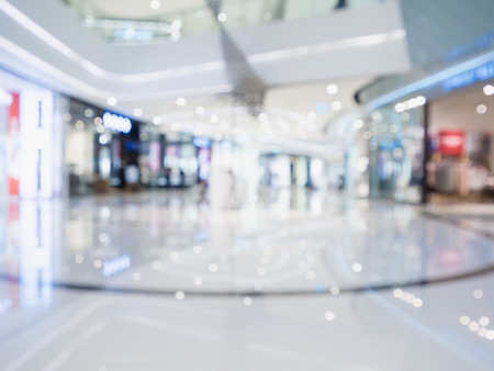 blur of  department store with bokeh for background Stockfoto