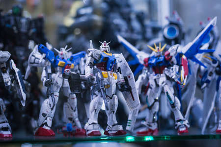 BANGKOK, THAILAND -June 16 , 2020:Plastic model RX-78-2l GUNDAM Real grade scale 1:144 in showcase