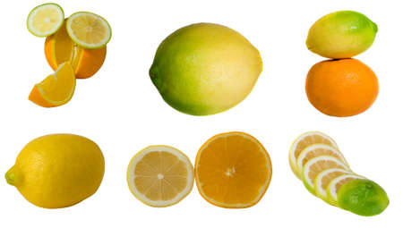 collage of citrus Banco de Imagens