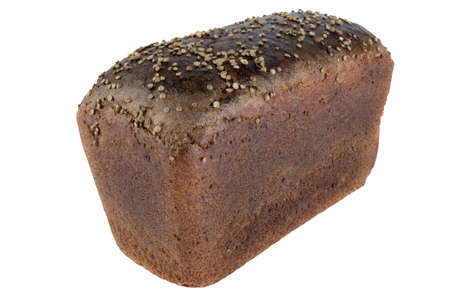 brown bread isolated on white Banco de Imagens