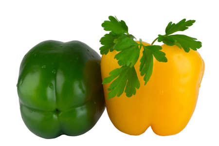Bulgarian peppers and parsley