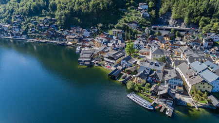 austrian village: Hallstatt by Salzburg, Austria, traditional austrian wood village, world culture heritage site