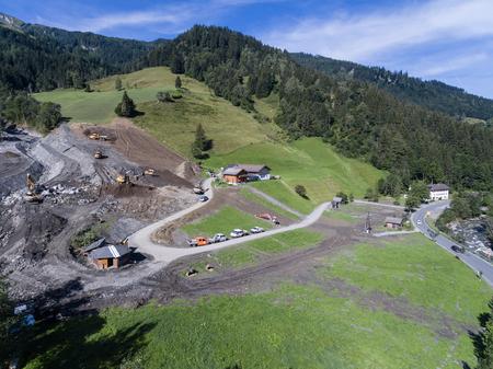convulsión: Deslizamientos de tierra causan cicatrización de las laderas de Austria después de fuertes lluvias. Europa