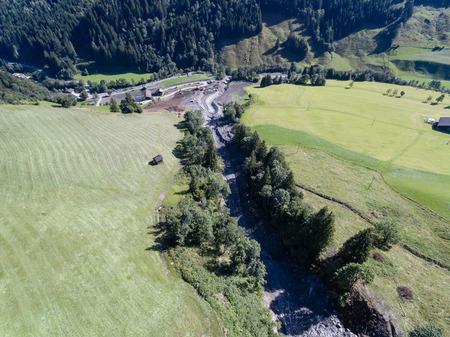 mud slide: Mudslides scar the hillsides of austria following heavy rain. Europe
