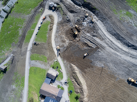 cataclysm: Mudslides scar the hillsides of austria following heavy rain. Europe